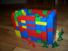 Joshua Fought The Battle Of Jericho-have kids help build the walls, march around them, then have kids knock them over