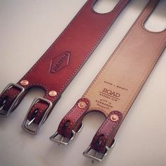 Patebury pedal toe straps, kangaroo leather.