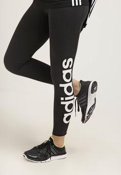 Auf dieses Basic kannst du nicht verzichten. adidas Performance ESSENTIALS LINEAR - Tights - black/white für 27,95 € (19.12.16) versandkostenfrei bei Zalando bestellen.