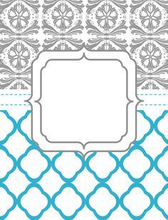 Printable Binder Cover Templates | Binder Covers
