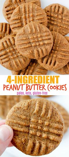 These Paleo Peanut Butter Cookies are stupidly easy to make and are approved for any diet: Keto Paleo and Gluten-Free! These Paleo Peanut Butter Cookies are stupidly easy to make and are approved for any diet: Keto Paleo and Gluten-Free! Paleo Dessert, Keks Dessert, Dessert Sans Gluten, Bon Dessert, Paleo Sweets, Healthy Desserts, Paleo Peanut Butter Cookies, Paleo Cookies, Easy Gluten Free Cookies