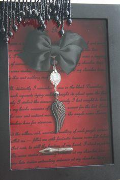 For Sarah Memento Mori Edgar Allan Poe-Shadowbox by BlackKatCurios