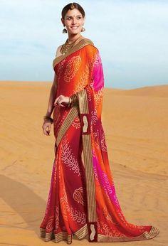 Elegant Bandhej Print Saree  https://www.ethanica.com/products/elegant-bandhej-print-saree-1