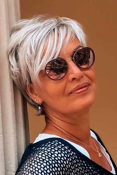 Short Hair Older Women, Short Grey Hair, Haircut For Older Women, Haircuts For Fine Hair, Short Blonde, Short Hairstyles For Women, Black Hair, Gray Hair, Short To Medium Hair