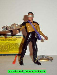 Star Trek GEORDI LAFORGE interstellar action series 1995 playmates complete action figures