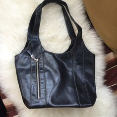 Vegan 🌱 Used in good shape. Has light in it needs new battery. No kill leather no rips or stains except in last picture 9 in deep and 13 1/2 in wide. Bags Shoulder Bags