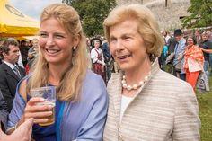 Princess Tatjana of Liechtenstein with her mother Marie Algae, Princess Consort of Liechtenstein.
