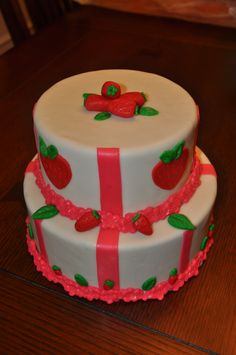 Strawberry Shortcake bday cake , Strawberry Shortcake doll topper will be added at the party