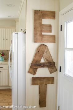 Start at Home: Pallet Letters