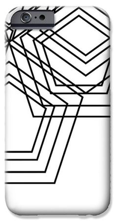 Black And White Geo IPhone Case by South Social Studio