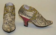 Shoes    Date:18th century  Culture : French (probably)  Medium: silk