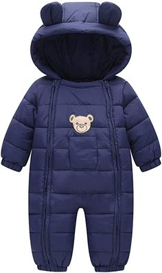 This is a link to Amazon and as an Amazon Associate I earn from qualifying purchases. Happy Cherry Toddler Cotton Romper Baby Winter Coat Zipper Long Sleeve Cute Baby Snowsuit #babyclothes #babysnowsuit Cherry Baby, Baby In Snow, Winter Baby Clothes, Babies Clothes, Baby Snowsuit, Snow Outfit, Baby Warmer, Toddler Boys, Baby Boys