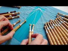 003 Encaje de Hinojosa - Colocacion de alfileres y pares - YouTube