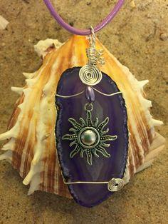 #548 Sun on purple agate