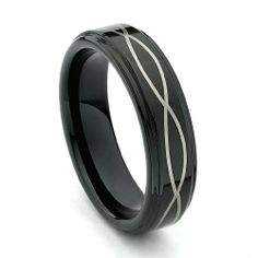 Valentines Day 6mm Laser Strip Black Cobalt Free Tungsten Carbide Comfort-fit Wedding Band Ring (Size 8.5 to 12.5) The World Jewelry Center. $18.00. Promptly Packaged with Free Gift Box and Gift Bag. scratch proof. Tungsten has a tendency to break when hit with a hard material