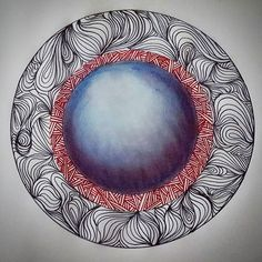 Agosto  #art #ink #lines #colour #pastel #chalkpaint #illustration #naranjamarilla #zentangle #doodle #picoftheday #august #olympics #drawing #planet #contemporary #curves #zen #organic #arte #color #dibujo #tizapastel