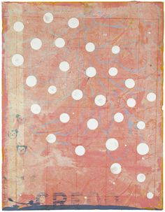 John Randall Nelson: Polka Dots for Holly Solomon #14, Mixed media on paper, 22x17