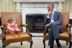 David Axelrod, senior advisor to the president, brought his granddaughter Maelin into the ...