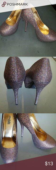 🌈Rainbow sparkle heels Sparkly, rainbow glitter high heels 👠 Charlotte Russe Shoes Heels