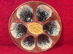 Beautiful Antique Majolica Oyster Plate c.1800's, op292 #Victorian