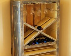 Reclaimed Wood Industrial Wine 6-Glass by WeAreDesignEvolution
