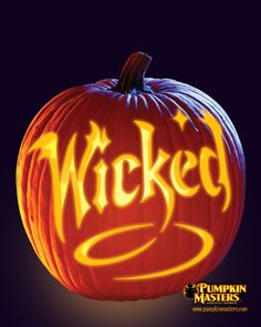 """Wicked"" pattern from the Pumpkin Masters Pumpkin Carving Kit."