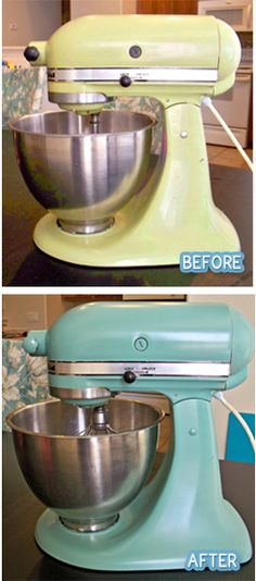 Painting a kitchenaid!  I'll be keeping this for down the road when I am sick of my current color!