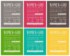 Women of God - in Brights & Lights... 12 files included for $3.50