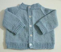 Baby Knitting Patterns Ravelry Baby's Raglan Sweater No Seams By Carole Barenys – Free Knitted Pattern – (r… Baby Boy Cardigan, Toddler Cardigan, Cardigan Bebe, Knitted Baby Cardigan, Knit Baby Sweaters, Knitted Baby Clothes, Baby Knits, Pink Cardigan, Knitted Bags
