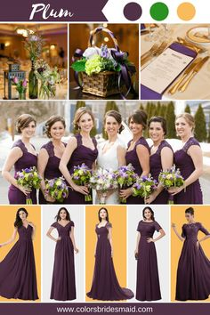 When You Dress Nice, Others Are Nicer To You. Blue Purple Wedding, Gold Wedding Colors, Plum Wedding, Wedding Bells, Wedding Gowns, Plum Bridesmaid Dresses, Bridesmaids And Groomsmen, Pallet Wedding, Bridal Shower Party