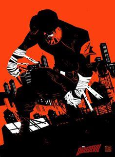 Daredevil, by Victor Santos Marvel Comic Character, Comic Book Characters, Marvel Characters, Comic Books Art, Comic Art, Marvel Comics, Marvel Art, Marvel Heroes, Stan Lee
