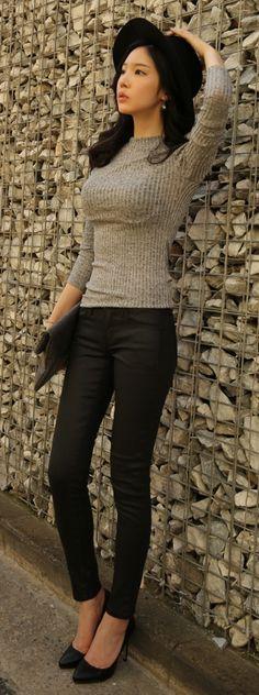 Luxe Asian Women Design Korean Model Fashion Style Top