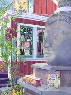 Buddha of crested butte watercolor paintings crested butte colorado. Krys Gieskieng