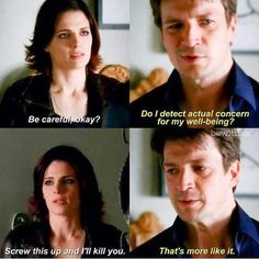 Season 1 episode 8 'Little Girl Lost' When Castle is getting ready to deliver the ransom money.