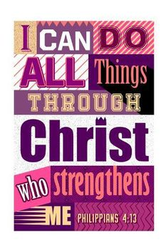 size: Art Print: All Things Through Christ (pink) : Blessed Quotes, Prayer Quotes, Bible Verses Quotes, Faith Quotes, Words Quotes, Quotable Quotes, Prayer Ministry, Christian Inspiration, Daily Inspiration