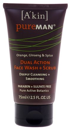 A'kin PureMAN Dual Action Face Wash & Scrub