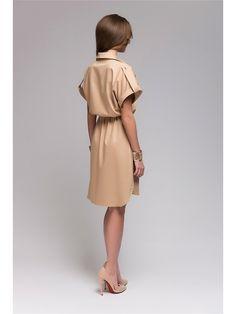 Платье рубашка длины мини в клетку, отрезное по линии талии.Верх платья на…