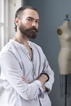 Derek Clarkson, B.F.A. fashion student, Seattle, Washington  http://www.scad.edu/fashionshow/  #SCADFashion