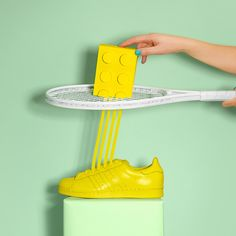 The playful adidas Originals Supercolor is the star of Marion Toy's latest art project.