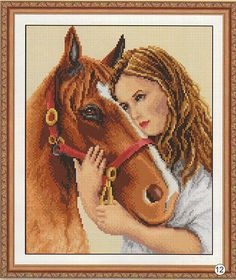 LOVIN HER HORSE 1 (3) (no color chart available, just use photo/pattern chart as your stitch/color guide... or choose your own colors)