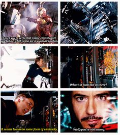 love this. side note - everytime they have a Tony-in-the-helmet shot I can't help but notice how gorgeous Robert Downey Jr.'s eyes are. :)