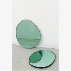 Green Seeing Glass mirrors by sabine marcelis via wwake 1- mirror, design, green