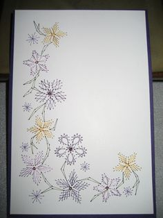 Embroidery on Paper by Lynn - Pattern in Booklet - Embroidery on Paper for Cardmakers by Annie & Nico Heesakkers