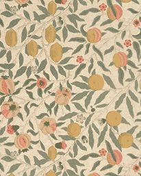 Fruit Beige/Gold/Coral från William Morris & Co William Morris, Livingstone, Graphics Fairy, English Style, Arts And Crafts Movement, Nature Prints, Textiles, Fabric Wallpaper, Bold Colors