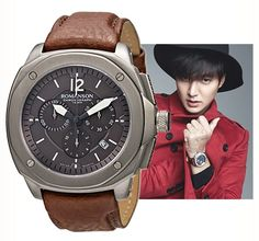 ROMANSON cf mode Lee Min-ho 李敏鎬 Лі Мін Хо ACTIVE water resistant AL3213HM1WAA7Y  Brand new in the line of active titanium chronograph 100m water resistant model