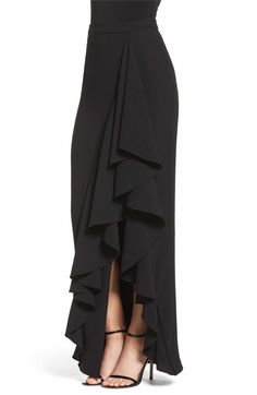 Eliza J Ruffle Side Maxirock Sexy Dresses, Cute Dresses, Casual Dresses, Fashion Dresses, Modest Fashion, A Line Skirt Outfits, Dress Outfits, Modest Outfits, Summer Outfits