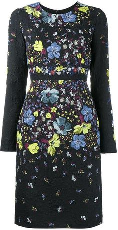 Erdem embroidered floral pattern dress