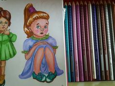 Drawing  girl #stickysisters #fabercastle #drawing #markers # girl #character