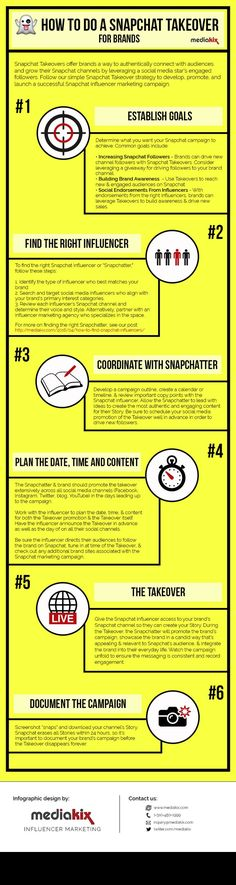 [INFOGRAPHIC] Snapchat Takeover—Learn some practical techniques and tactics for connecting with a Snapchat audiences and… http://itz-my.com