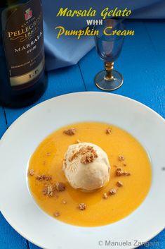 #Marsala #Gelato with #Pumpkin Sauce - the perfect #autumn treat!